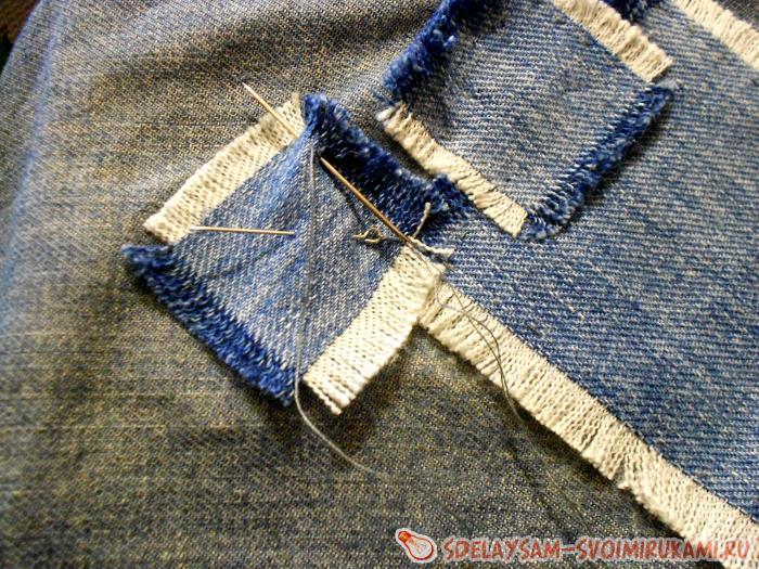 Латки на джинсы мастер класс