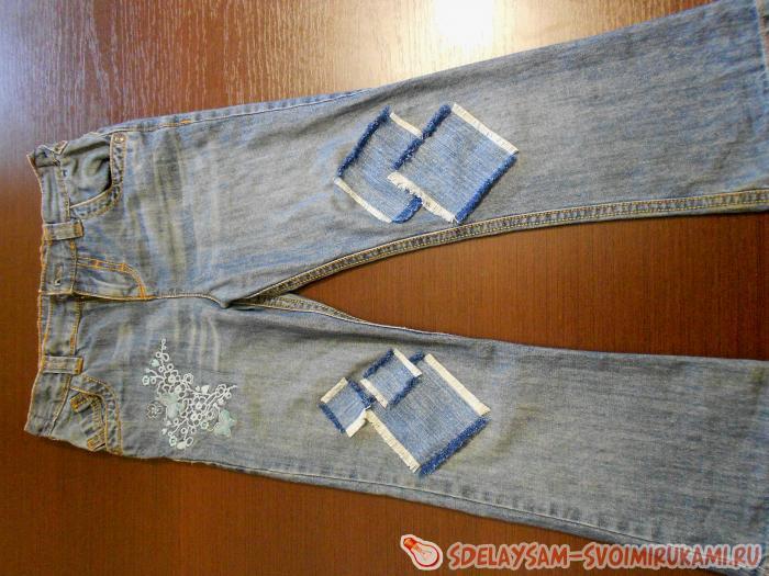 Как заштопать джинсы своими руками