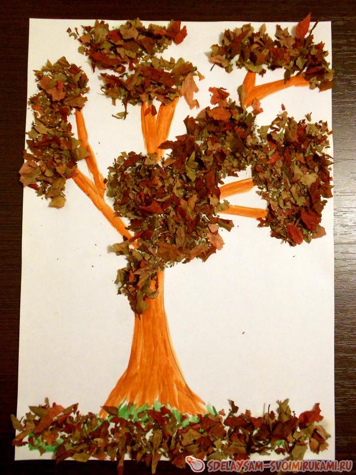 Поделка дерево осень руками пошагово 90