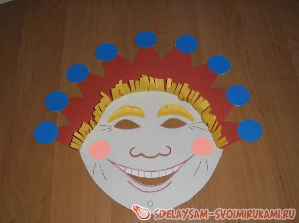 Маска клоуна сделать своими руками 709