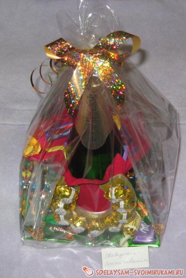 Подкова с конфетами своими руками 526