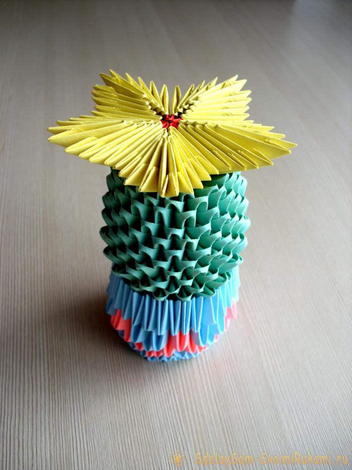 Модульное оригами цыпленок в скорлупе мастер класс. Сборка