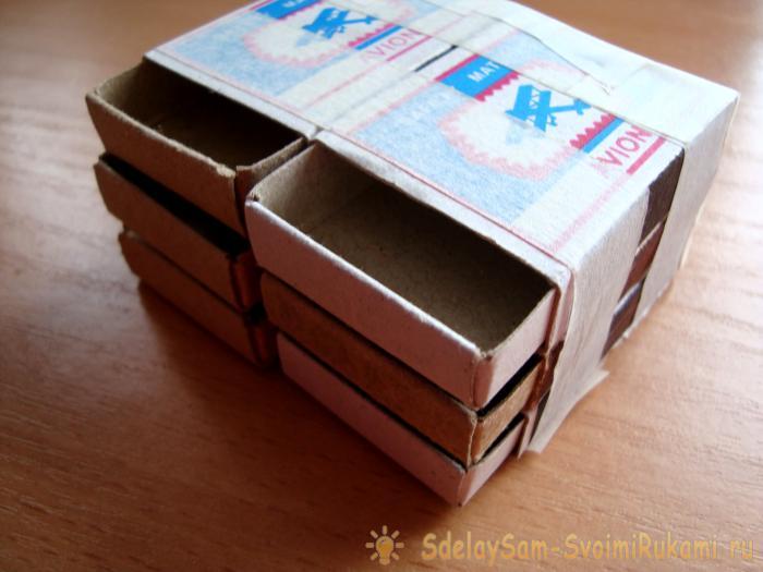 Комод из спичечных коробков своими руками