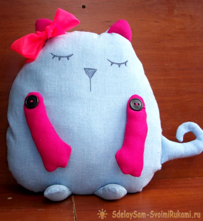 Подушка игрушка декоративная своими руками