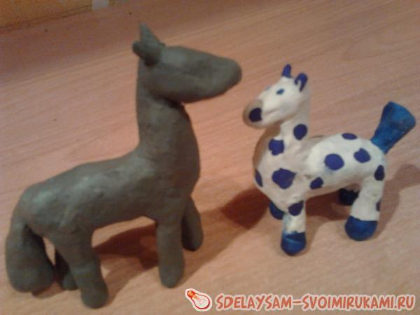 Лошадка из глины своими руками 72
