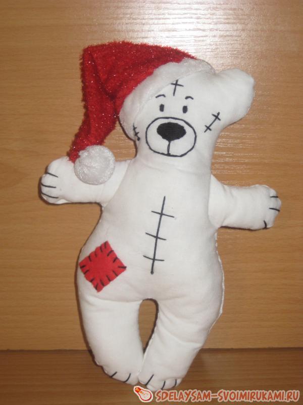 Игрушка белый медведь своими руками