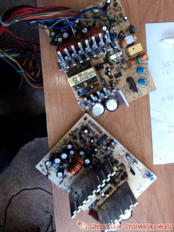 Инвертор 12-220 своими руками из компьютерного блока