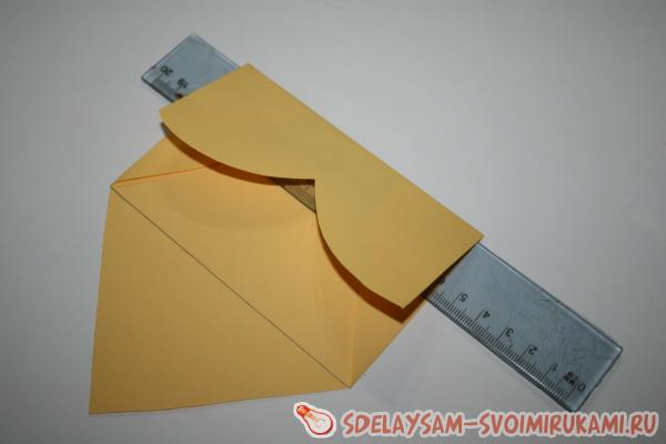 сгибаем в конверт