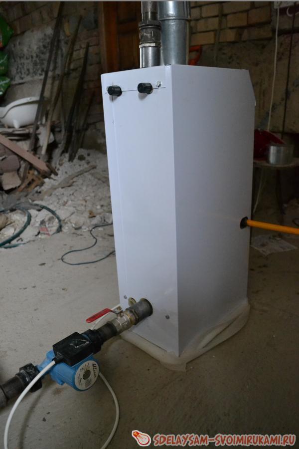Газовый котел своими руками от газового баллона