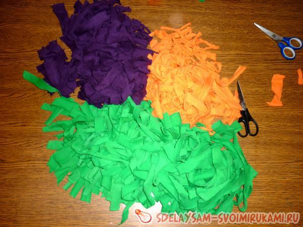 Как сделать своими руками ковер пушистый пошаговый рецепт