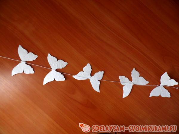 Бабочки на нитках как сделать