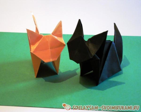 Зайки из модульного оригами
