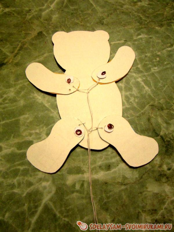 Мишка из бумаги своими руками фото