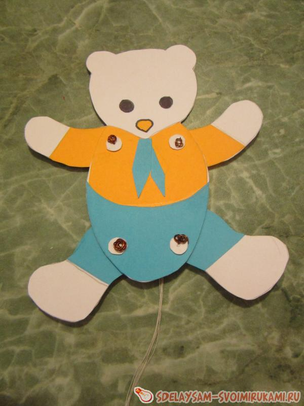 игрушки из бумаги Медвежонок