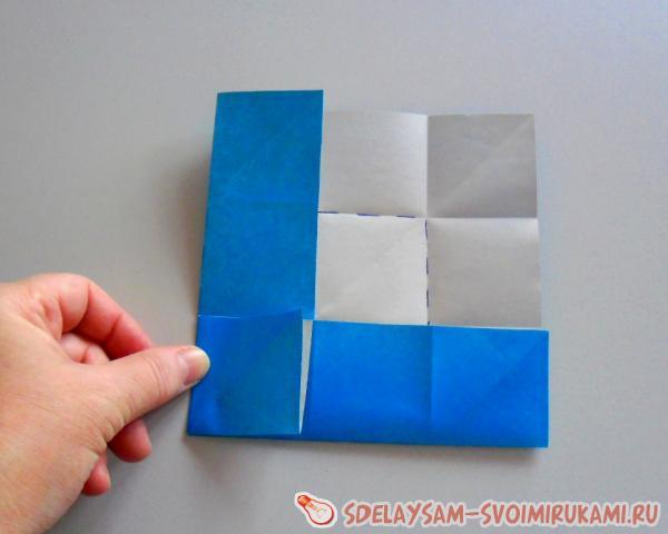 цветок из квадратного листа бумаги
