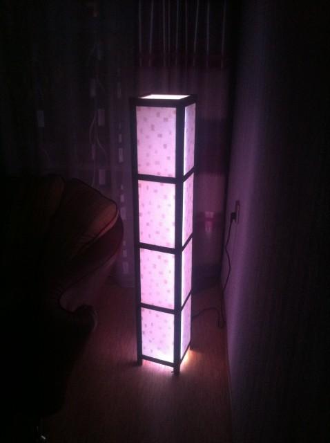 Высокий напольный светильник своими руками
