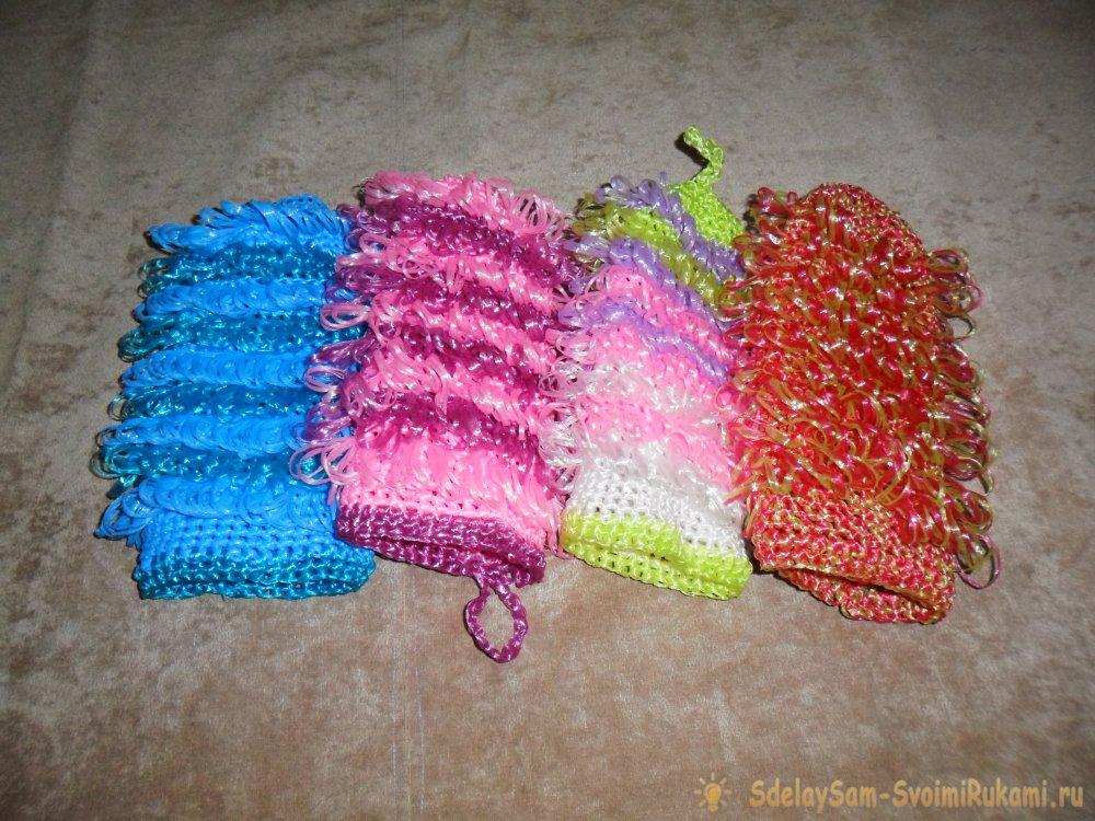Нитки для вязания мочалки крючком