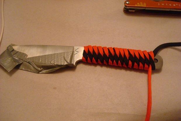 Как сделать рукоять на нож из верёвки