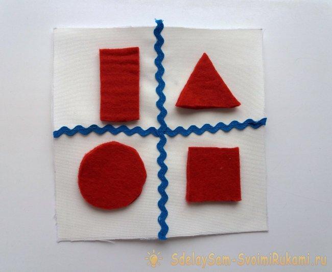 Как сшить развивающий кубик для малыша