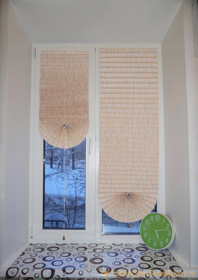 Штора плиссе из ткани своими руками 53