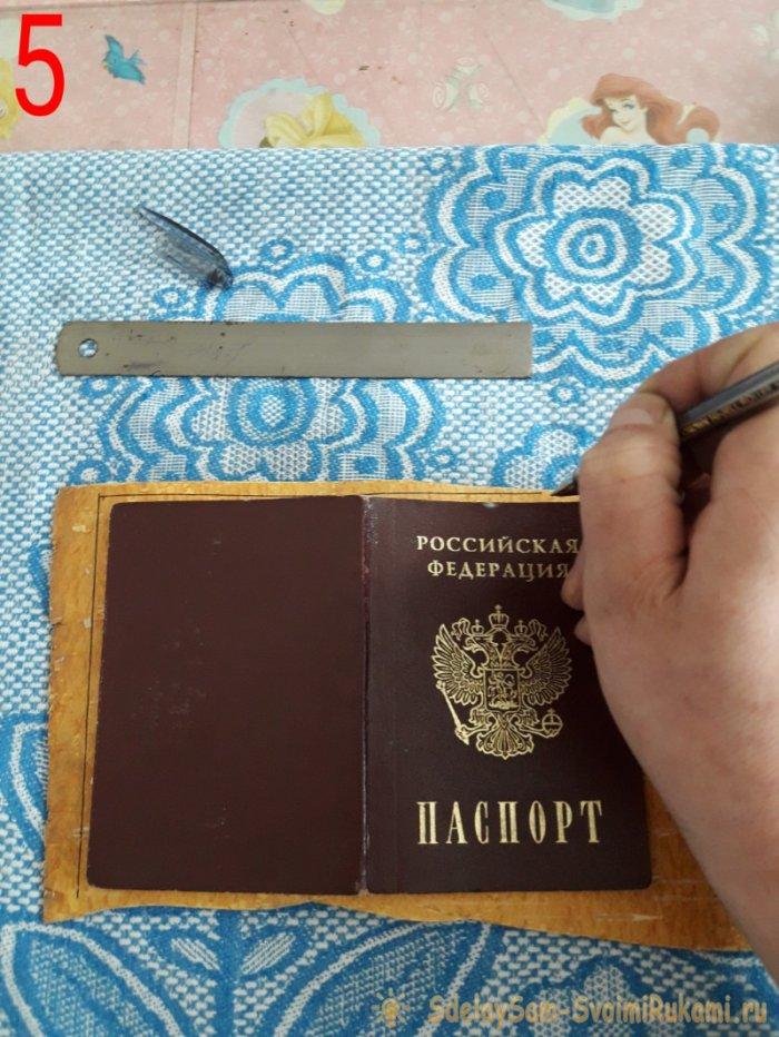 Обложка для паспорта из бересты своими руками 76