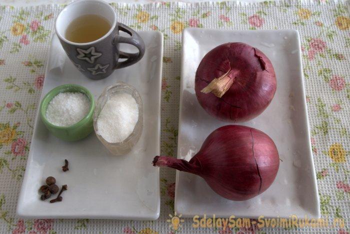 Маринованный красный лук для канапе салатов бургеров и плова