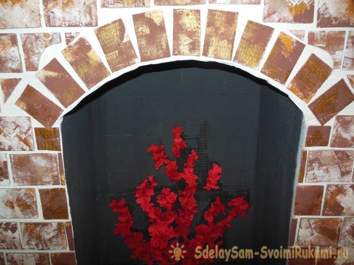 Декоративный фальш камин из картона