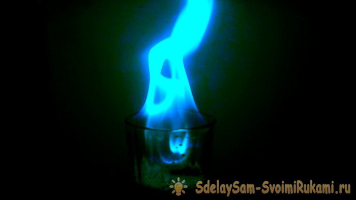 Несложный эксперимент  Синее пламя