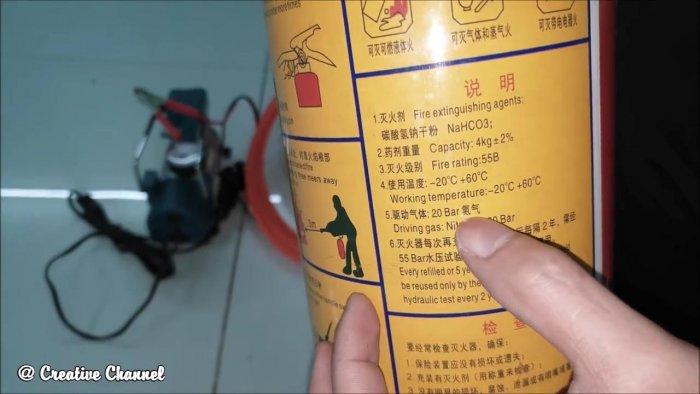 Как из огнетушителя сделать ресивер для компрессора 12 В