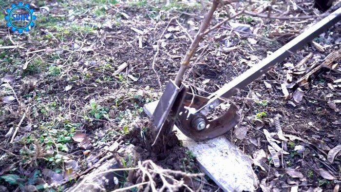 Как сделать ручной корчеватель для кустов и мелких деревьев