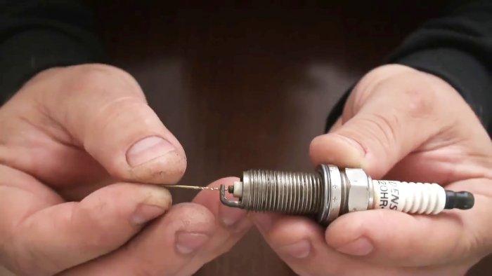 Простейшая доработка свечи которая улучшит работу двигателя