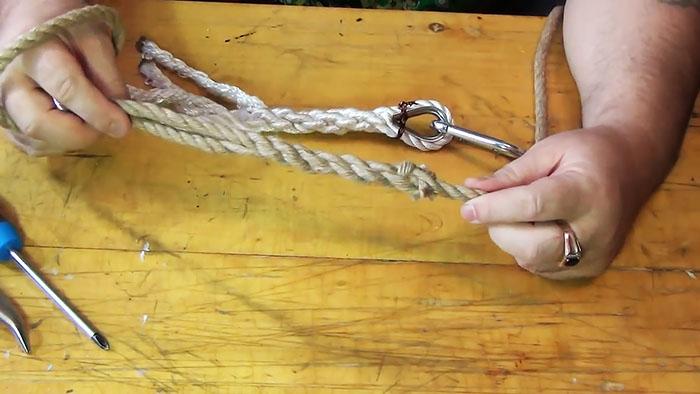Как заплести канат без узла в петлю или для крепления коуша