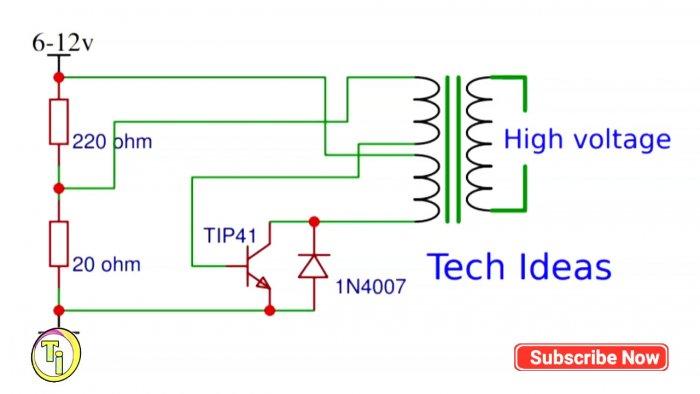 Самодельный трансформатор с 6 В до 30000 В
