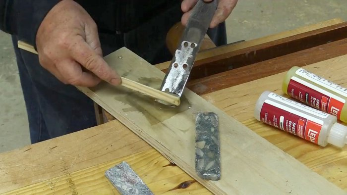 Рукоять для ножа из бетона своими руками
