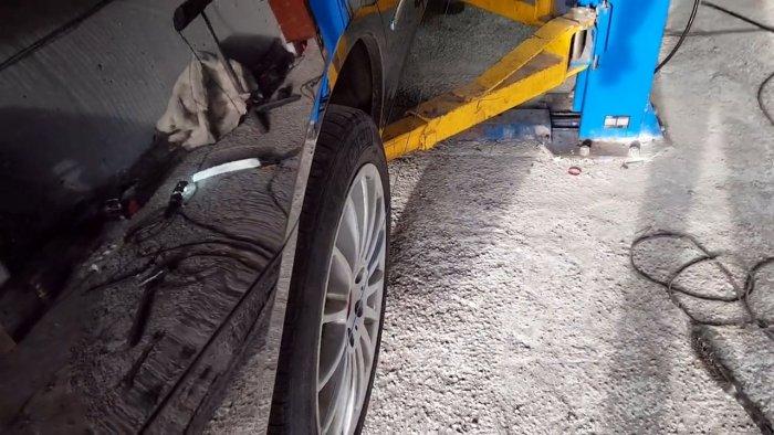 Как сделать схождение задних колес в домашних условиях