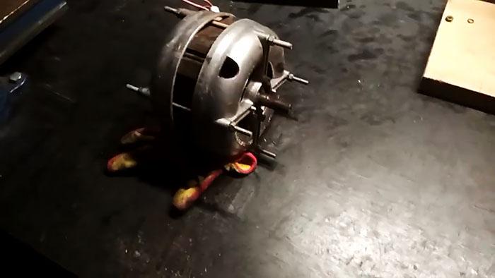 Простейший гриндер без токарки из двигателя от стиралки