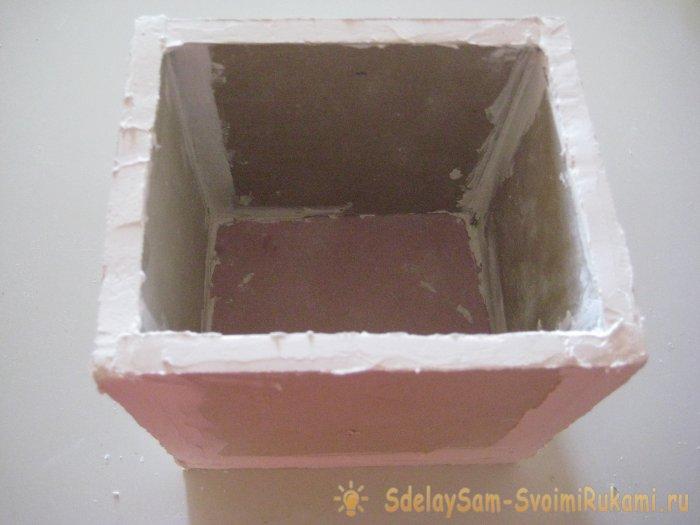 Из остатков гипсокартона: короб для хранения любых принадлежностей