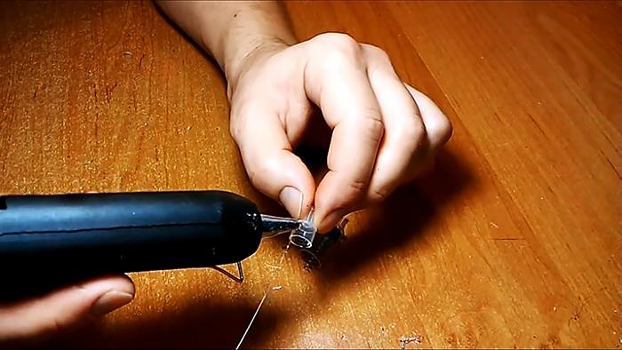 Обратный клапан из двух шприцов