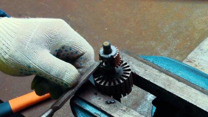 Как без проблем разобрать якорь двигателя на медь