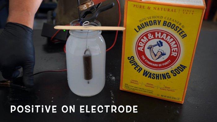 Отдельно делаем электролиз