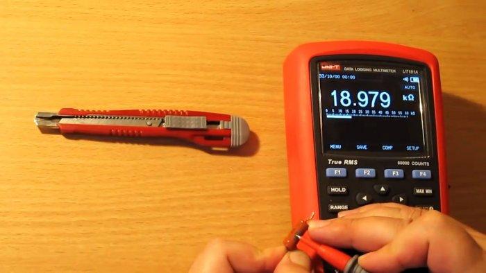 Измеряем сопротивление сгоревшего резистора Лайфхак от опытного радиолюбителя