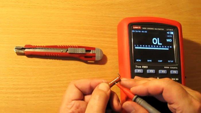 Измеряем сопротивление сгоревшего резистора