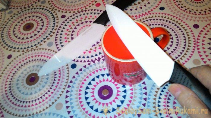 Как заточить керамический нож в домашних условиях