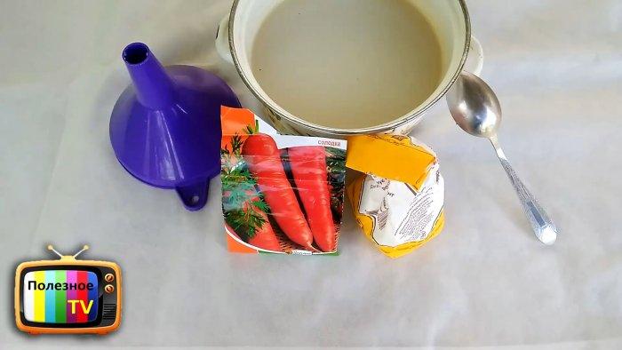 Лайфхак огороднику быстрая посадка моркови без прореживания