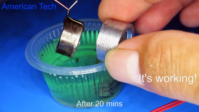 Эксперимент как в домашних условиях покрыть деталь медью никелем латунью и алюминием при помощи электролиза