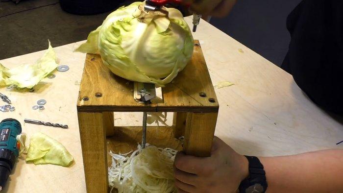 Как из шагового крана сделать мощную шинковку для капусты