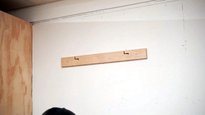 Как из куска фанеры сделать настенный кронштейн для большого телевизора