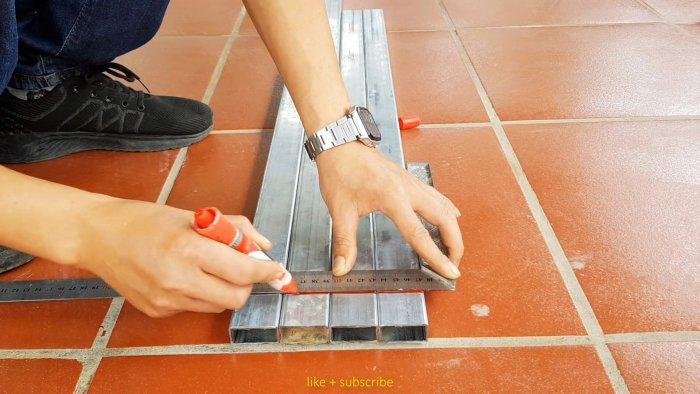 Как сделать секцию забора из сетки рабицы без сварки