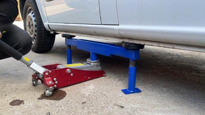 Опорная стойка для автомобиля под домкрат своими руками