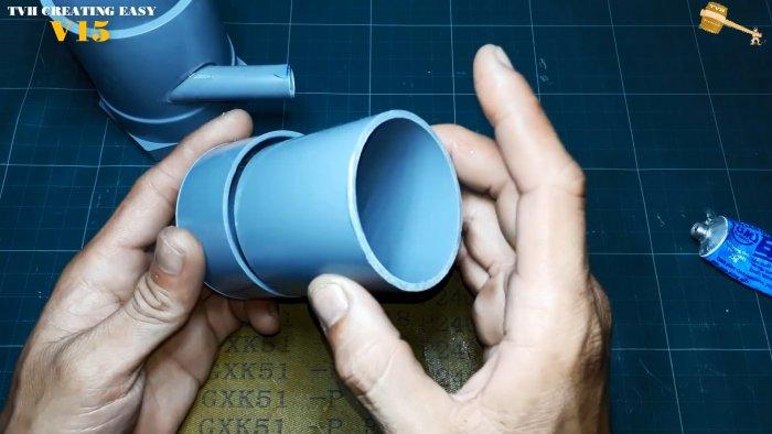 Как сделать мощный погружной насос из ПВХ труб